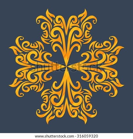 Vector ornament in Victorian style. Ornate baroque element for design, floral decoration. Ornamental lace pattern for wedding invitations, greeting cards - stock vector