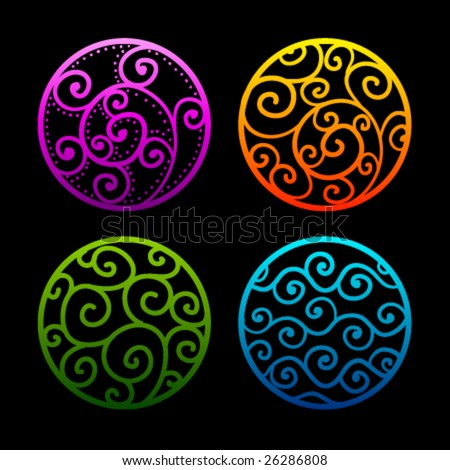 Vector Ornamental Circles - stock vector