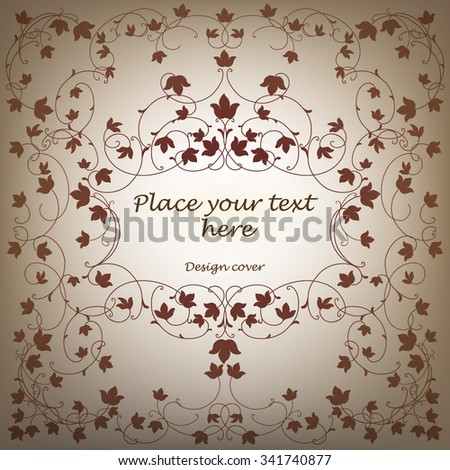 Vector ornamental cover.Template for design.
