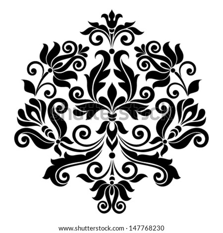 Vector ornamental floral element. Vintage style - stock vector