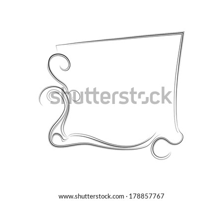 vector ornamental frame with curls and lines