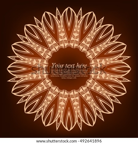 Vector Ornamental Invitation Card Template Handmade Stock Vector