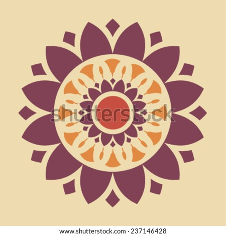 Vector Ornamental Mandala Illustration - stock vector