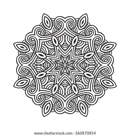 vector ornamental mandala.Illustration for decor - stock vector