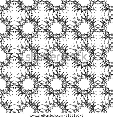 Vector Ornamental Texture on White Background. Abstract Geometric Pattern