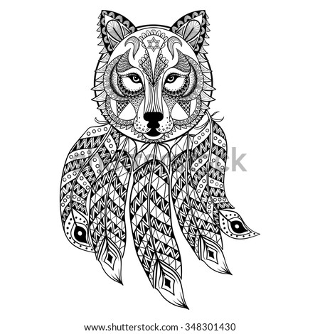 indian and wolf coloring pages - photo#18