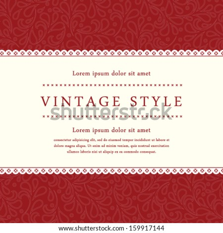 Vector ornate damask background. Perfect as invitation or announcement. - stock vector
