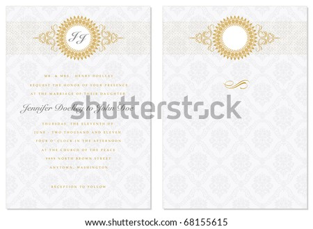 Vector ornate frame. Easy to edit. Perfect for invitations or announcements. - stock vector