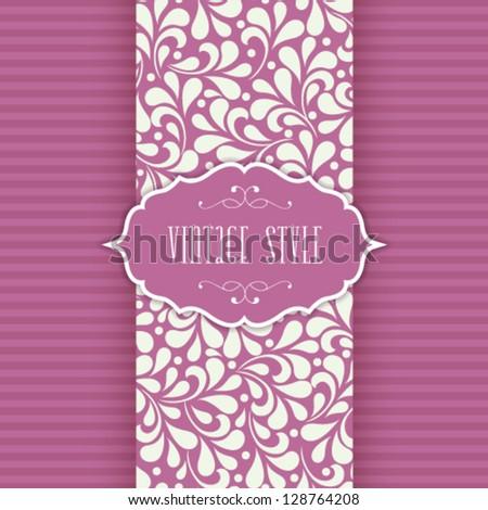Vector ornate frame for invitation or announcement. - stock vector