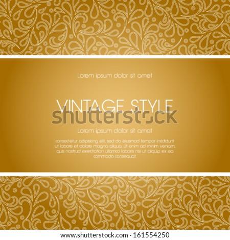 Vector ornate frame for invitation or announcement. Perfect as invitation or announcement.  - stock vector