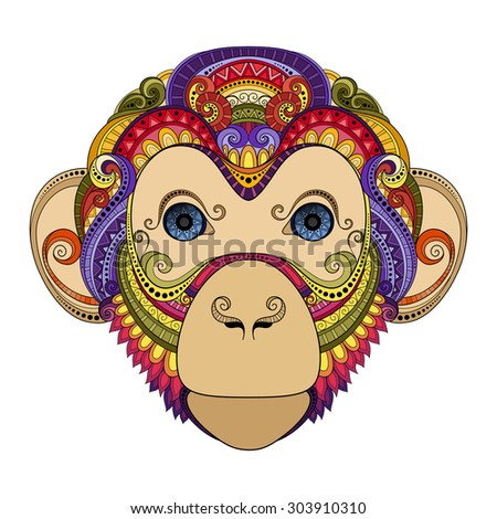 Chimp tattoo stock photos royalty free images vectors for Year of the monkey tattoo