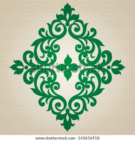 Vector ornate ornament in Victorian style. Element for design. It can be used for decorating of invitations, cards, decoration for bags and clothes, at tattoo creation. - stock vector