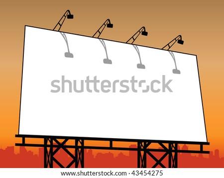vector outdoor billboard - stock vector