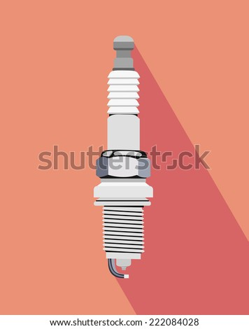 vector outline spark-plug  - stock vector