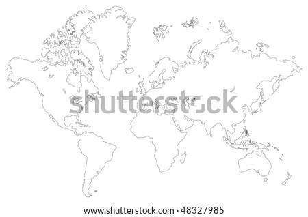 World Map Outline Stock Images RoyaltyFree Images Vectors - World map white