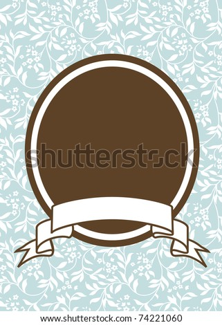 Vector oval frame and ivy background. Easy to edit. Perfect for invitations or announcements. - stock vector