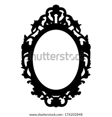 vector oval vintage frame - stock vector