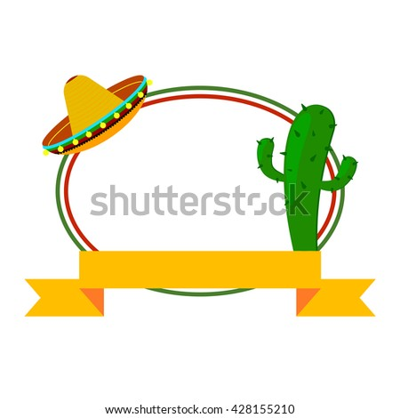vector oval colors mexican flag ribbon stock vector 428155210