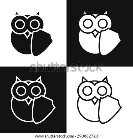 Vector Owl Logo Shell Symbol Education Stock Vector 290882720