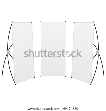 vector pack banner x-stands display isolated - stock vector