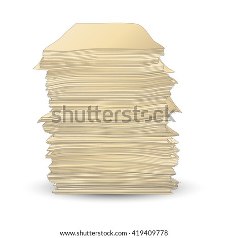 Vector pack of paper