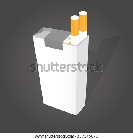 vector pack with cigarettes  - stock vector