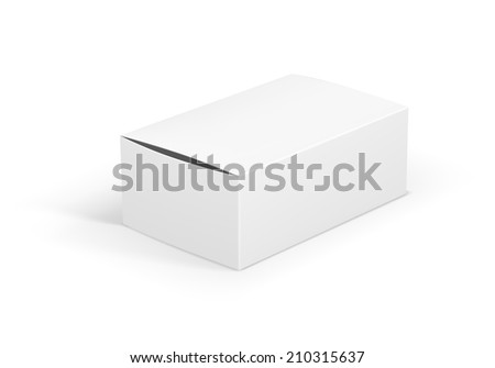 Vector  Package Icon isolated on white background