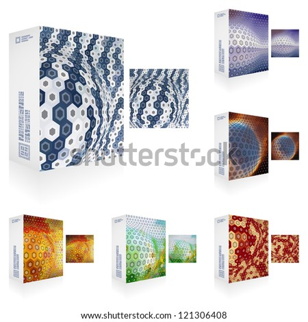 Vector packaging box. Abstract background.