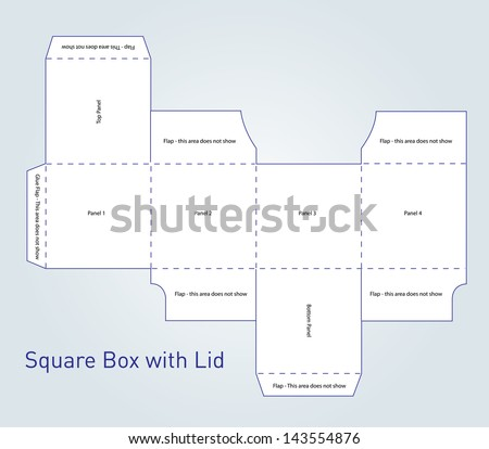 Vector Packaging Box Template Lid Stock Vector 143554876 ...