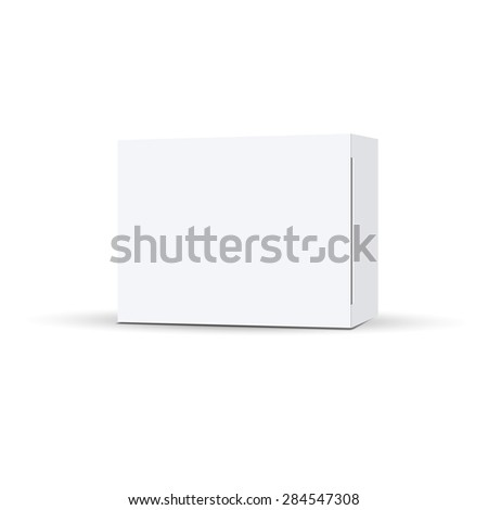Vector packaging on a white background. Can be used in medicine for tablets, food - stock vector
