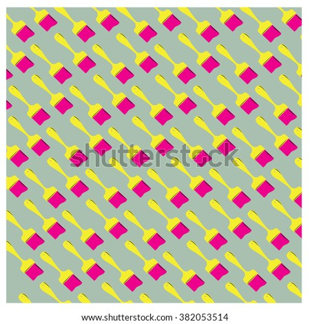 Vector paint brush colorful pattern