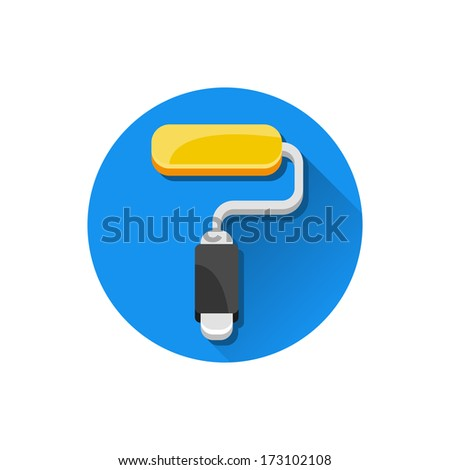 Vector Paint Roller Icon - stock vector