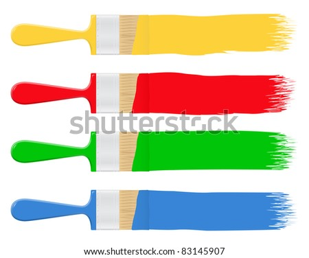 Vector Paintbrushes - stock vector