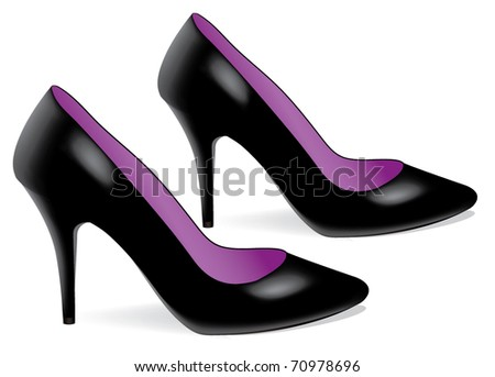 vector pair of high heel shoes