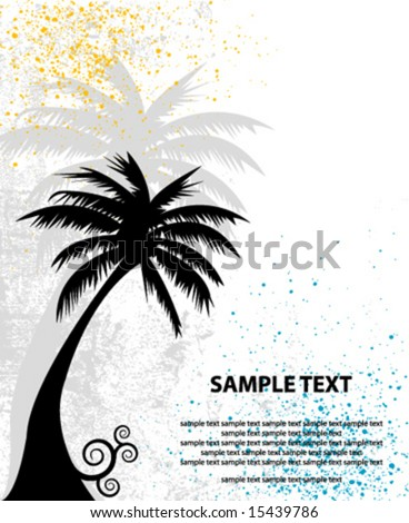 vector palm background
