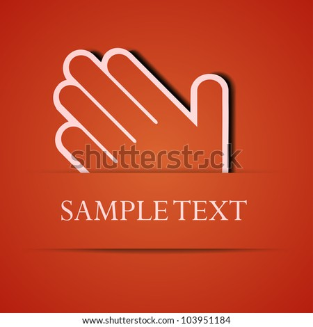 Vector palm  background. Eps10 illustration - stock vector