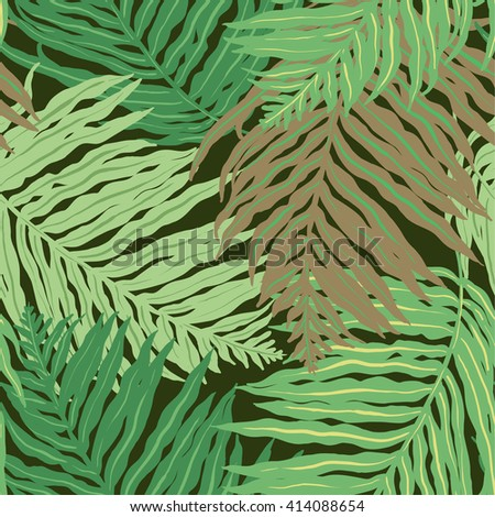 vector palm leaves pattern - stock vector