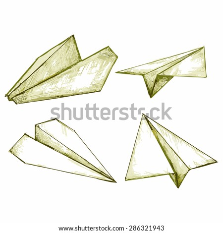 Vector Paper Airplane Origami