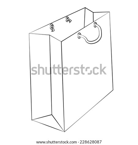 Stock images royalty free images vectors shutterstock vector paper bag to reduce global warming is isolated on a white background malvernweather Choice Image