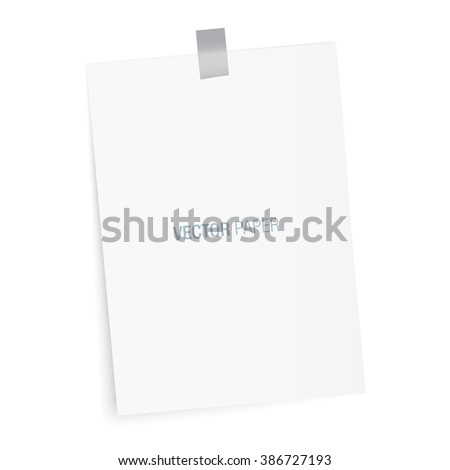Blank paper to type