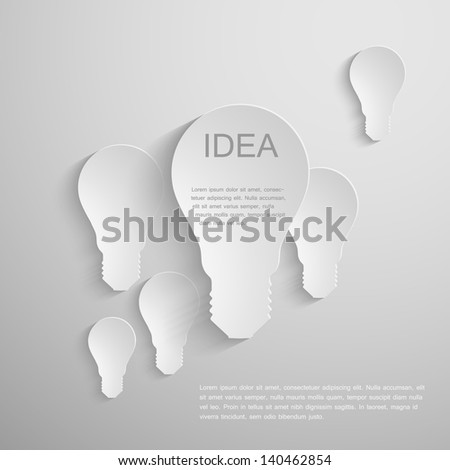 Vector paper bubl background. - stock vector