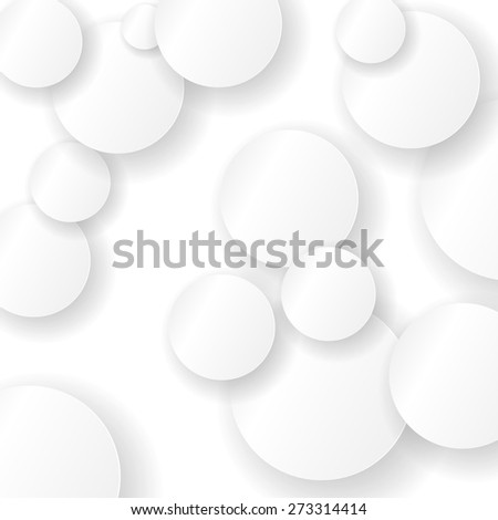 Vector Paper Circle Background. Circles with Drop Shadows - stock vector