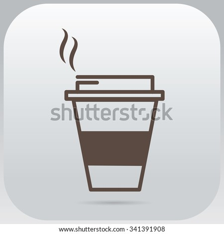 Vector paper cup icon - stock vector