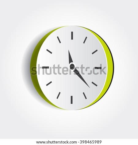 Vector Paper Cut Out Clock Element Stock Vector 398465989 - Shutterstock