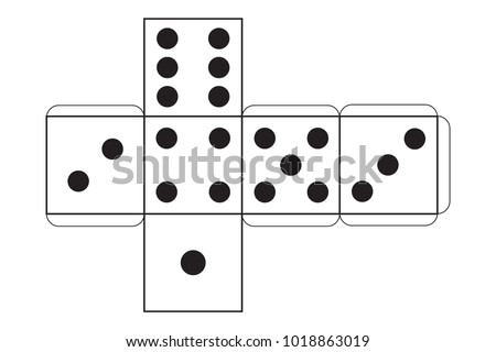 Vector paper dice template playing cube stock vector 1018863019 vector paper dice template playing cube maxwellsz