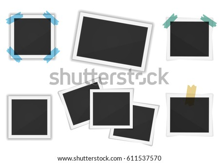 Vector Paper Frames Pack Isolated On Stock Vector 611537570 ...
