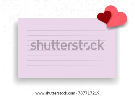 vector paper hearts template valentines day stock vector 787717219
