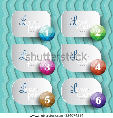 Vector paper notes of different forms. - stock vector