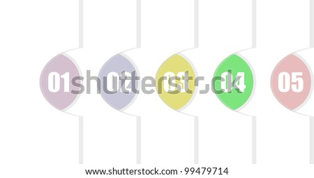 Vector Paper Progress background - stock vector