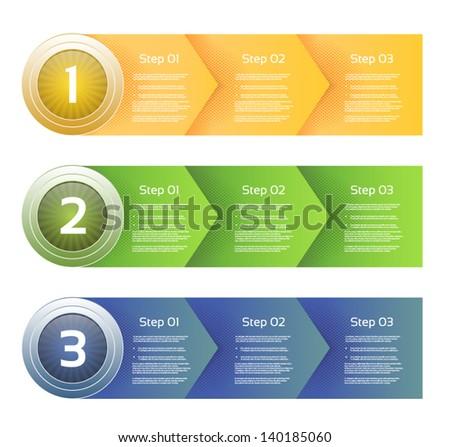 Vector Paper Progress Background. eps 10 - stock vector